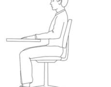 Ergonomia della postazione di lavoro alla scrivania